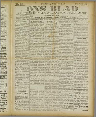 Ons Blad : katholiek nieuwsblad voor N-H 1919-10-02