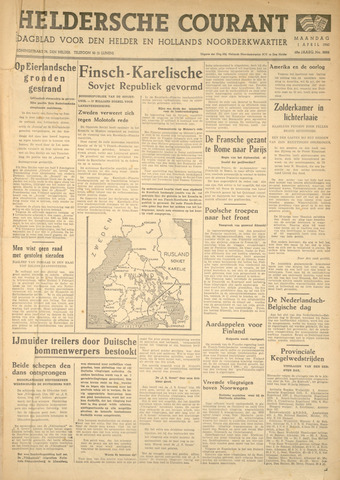 Heldersche Courant 1940-04-01