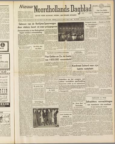 Nieuw Noordhollandsch Dagblad : voor Alkmaar en omgeving 1949-06-09