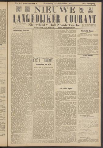 Nieuwe Langedijker Courant 1927-09-22