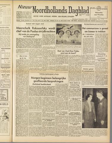 Nieuw Noordhollandsch Dagblad : voor Alkmaar en omgeving 1949-11-08