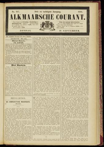 Alkmaarsche Courant 1881-09-18