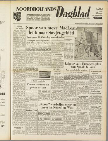 Noordhollands Dagblad : dagblad voor Alkmaar en omgeving 1953-09-19