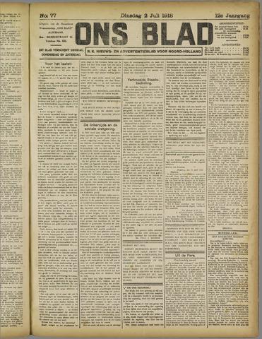 Ons Blad : katholiek nieuwsblad voor N-H 1918-07-02