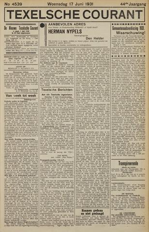Texelsche Courant 1931-06-17