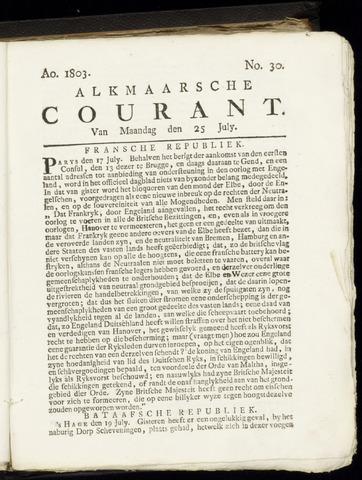 Alkmaarsche Courant 1803-07-25