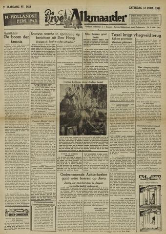De Vrije Alkmaarder 1949-02-12