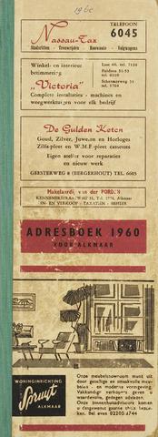 Adresboek van Alkmaar 1960-01-01