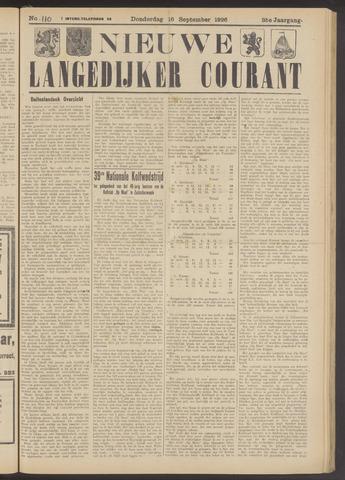 Nieuwe Langedijker Courant 1926-09-16