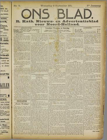 Ons Blad : katholiek nieuwsblad voor N-H 1911-09-06