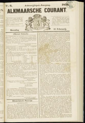 Alkmaarsche Courant 1856-02-11