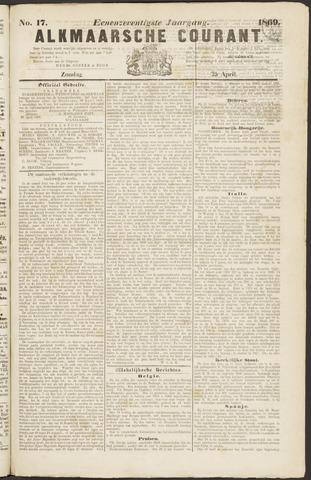 Alkmaarsche Courant 1869-04-25