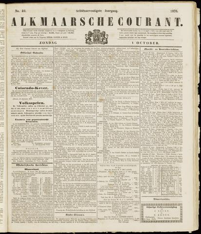 Alkmaarsche Courant 1876-10-01