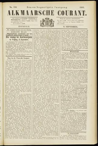 Alkmaarsche Courant 1889-09-15