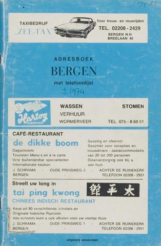 Adresboek van Bergen 1974-01-01