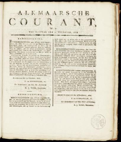 Alkmaarsche Courant 1816-11-11