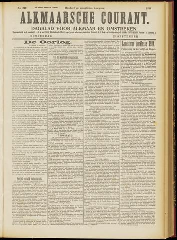 Alkmaarsche Courant 1915-09-23