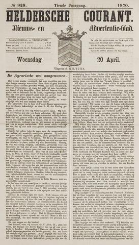 Heldersche Courant 1870-04-20