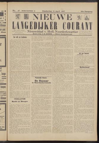 Nieuwe Langedijker Courant 1927-04-21