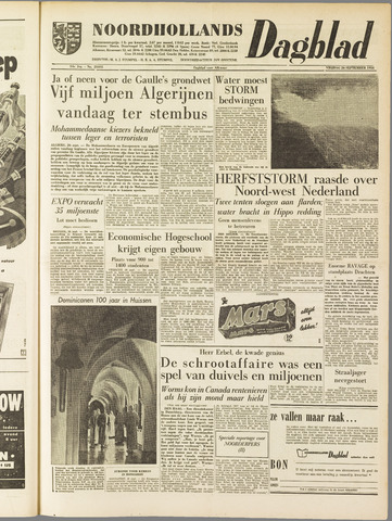 Noordhollands Dagblad : dagblad voor Alkmaar en omgeving 1958-09-26