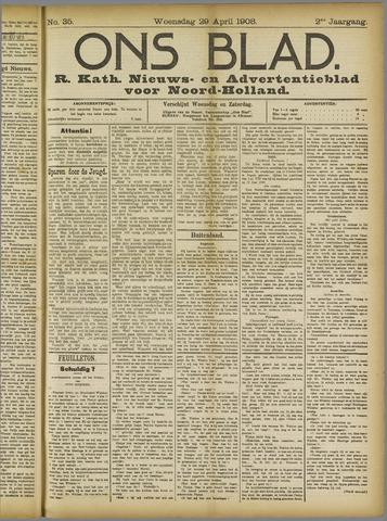 Ons Blad : katholiek nieuwsblad voor N-H 1908-04-29