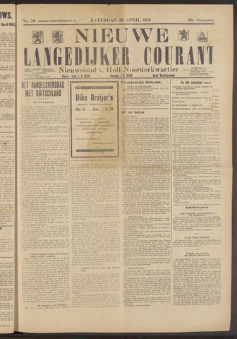 Nieuwe Langedijker Courant 1933-04-29