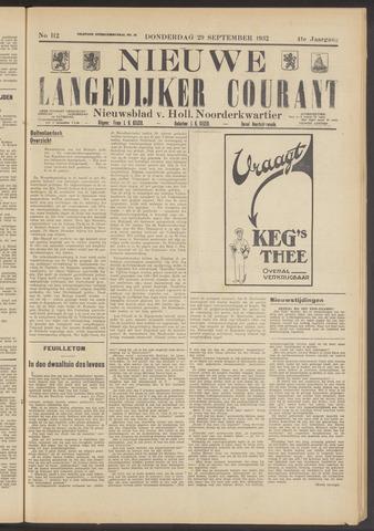 Nieuwe Langedijker Courant 1932-09-29