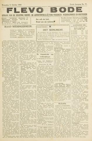 Flevo-bode: nieuwsblad voor Wieringen-Wieringermeer 1946-10-16