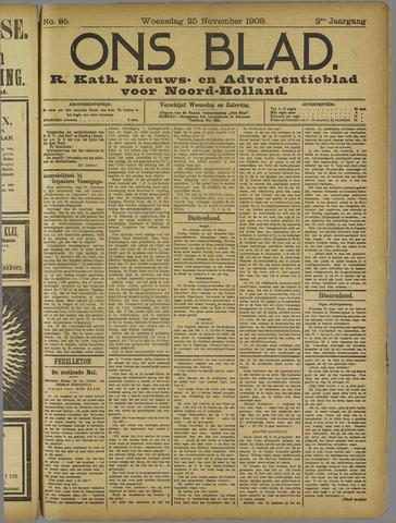 Ons Blad : katholiek nieuwsblad voor N-H 1908-11-25