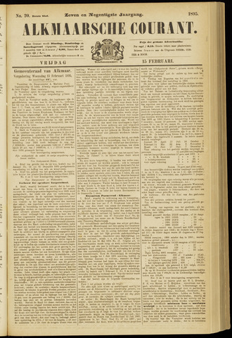 Alkmaarsche Courant 1895-02-15