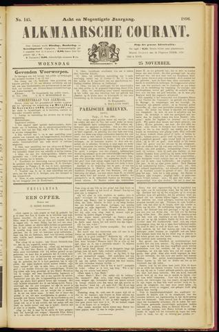 Alkmaarsche Courant 1896-11-25