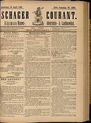 Schager Courant 1889-04-18