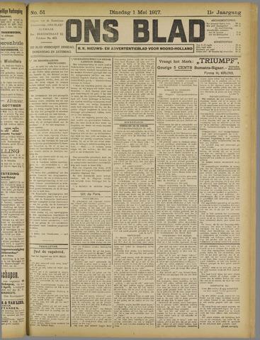 Ons Blad : katholiek nieuwsblad voor N-H 1917-05-01