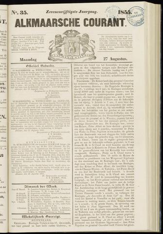 Alkmaarsche Courant 1855-08-27