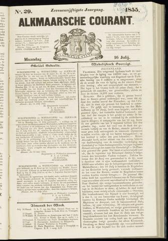Alkmaarsche Courant 1855-07-16