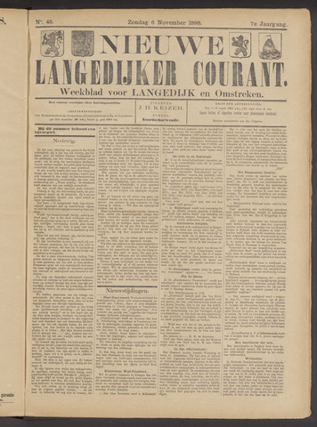 Nieuwe Langedijker Courant 1898-11-06