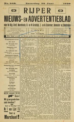 Rijper Nieuws- en Advertentieblad 1929-06-29