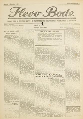 Flevo-bode: nieuwsblad voor Wieringen-Wieringermeer 1945-12-01