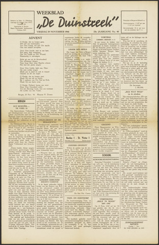 De Duinstreek 1946-11-29