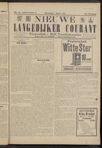 Nieuwe Langedijker Courant 1927-04-09