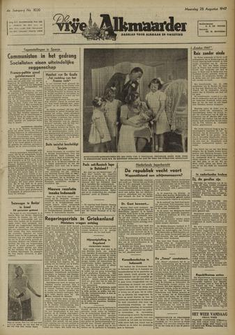 De Vrije Alkmaarder 1947-08-25