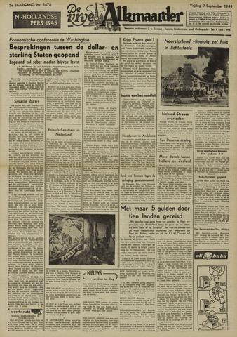 De Vrije Alkmaarder 1949-09-09