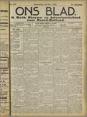 Ons Blad : katholiek nieuwsblad voor N-H 1913-11-20