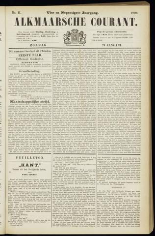 Alkmaarsche Courant 1892-01-24
