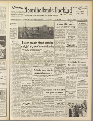 Nieuw Noordhollandsch Dagblad : voor Alkmaar en omgeving 1950-02-09