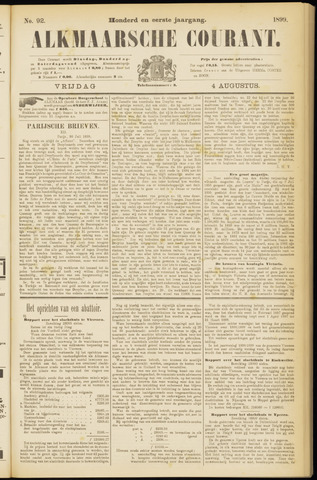 Alkmaarsche Courant 1899-08-04