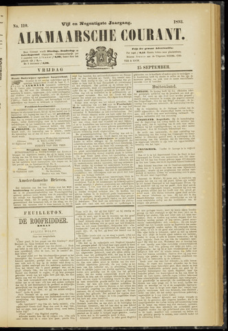 Alkmaarsche Courant 1893-09-15