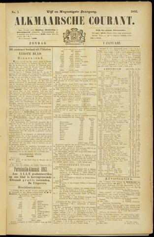 Alkmaarsche Courant 1893-01-01