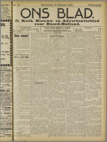 Ons Blad : katholiek nieuwsblad voor N-H 1913-02-13