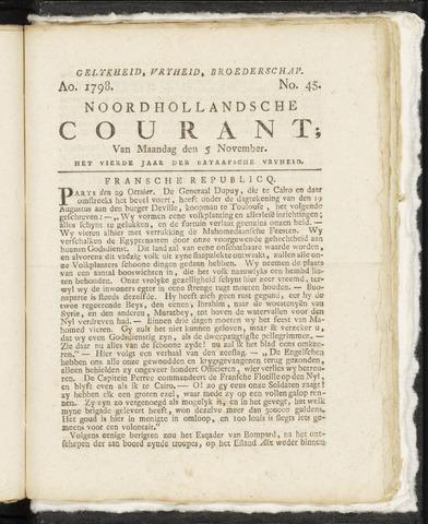 Noordhollandsche Courant 1798-11-05